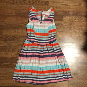 Summer Striped Sleeveless Dress with Pockets!